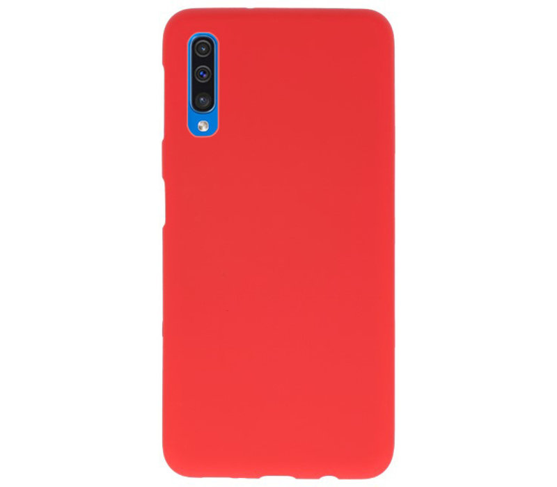 Color TPU Hoesje voor Samsung Galaxy A50 Rood