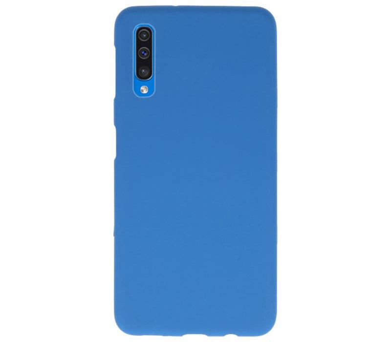 Color TPU Hoesje voor Samsung Galaxy A50 Navy