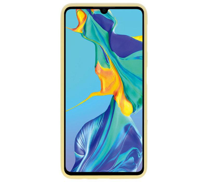 Color TPU Hoesje voor Huawei P30 Geel