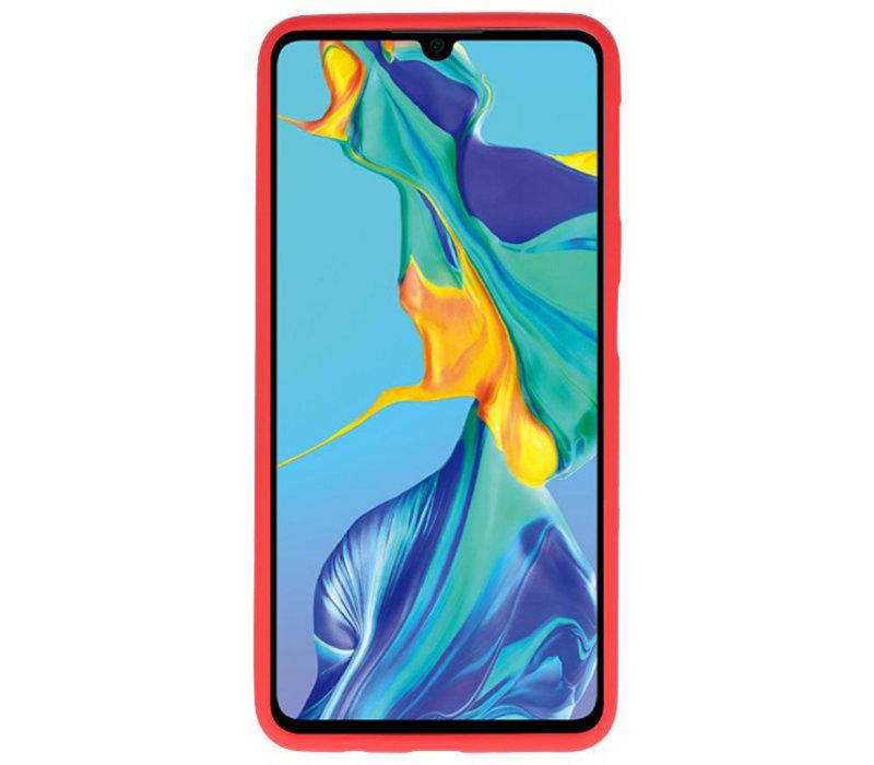 Color TPU Hoesje voor Huawei P30 Rood