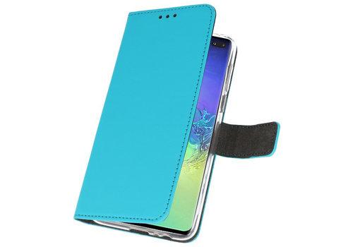 Wallet Cases Hoesje voor Samsung Galaxy S10 Plus Blauw