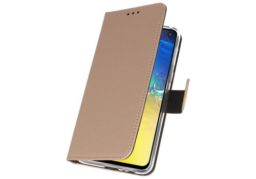 Wallet Cases Hoesje voor Samsung Galaxy S10e Goud