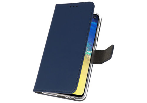 Wallet Cases Hoesje voor Samsung Galaxy S10e Navy