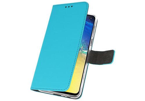 Wallet Cases Hoesje voor Samsung Galaxy S10e Blauw