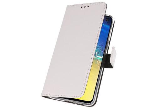 Wallet Cases Hoesje voor Samsung Galaxy S10e Wit