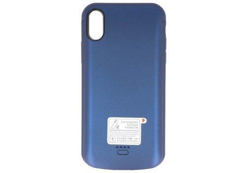 Battery Power Case voor iPhone XR 5000 mAh Audio Blauw