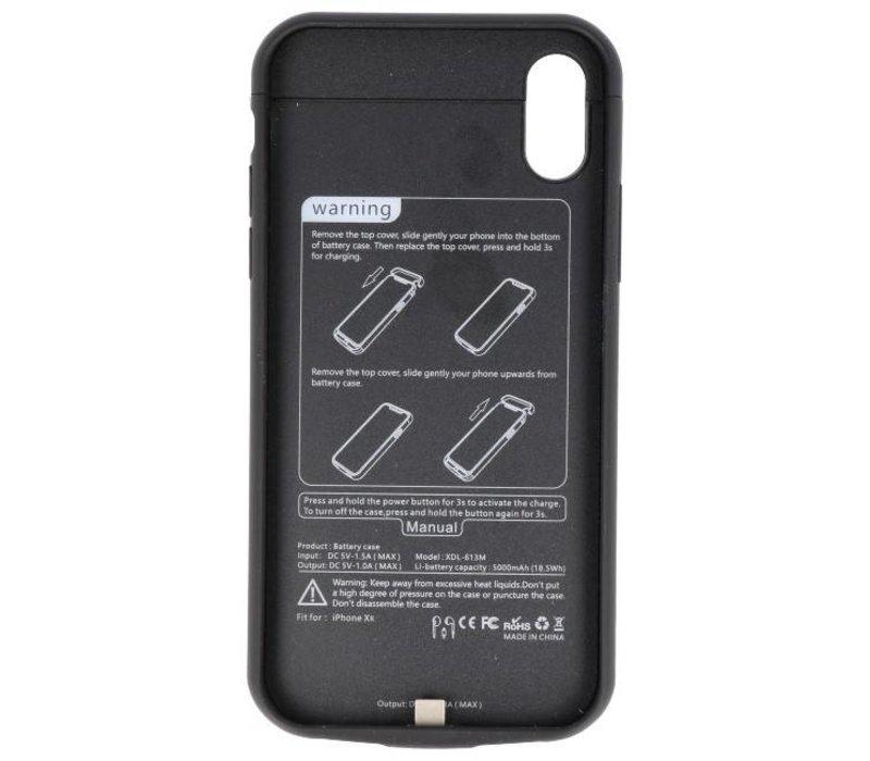 Battery Power Case voor iPhone XR 5000 mAh Audio Zwart
