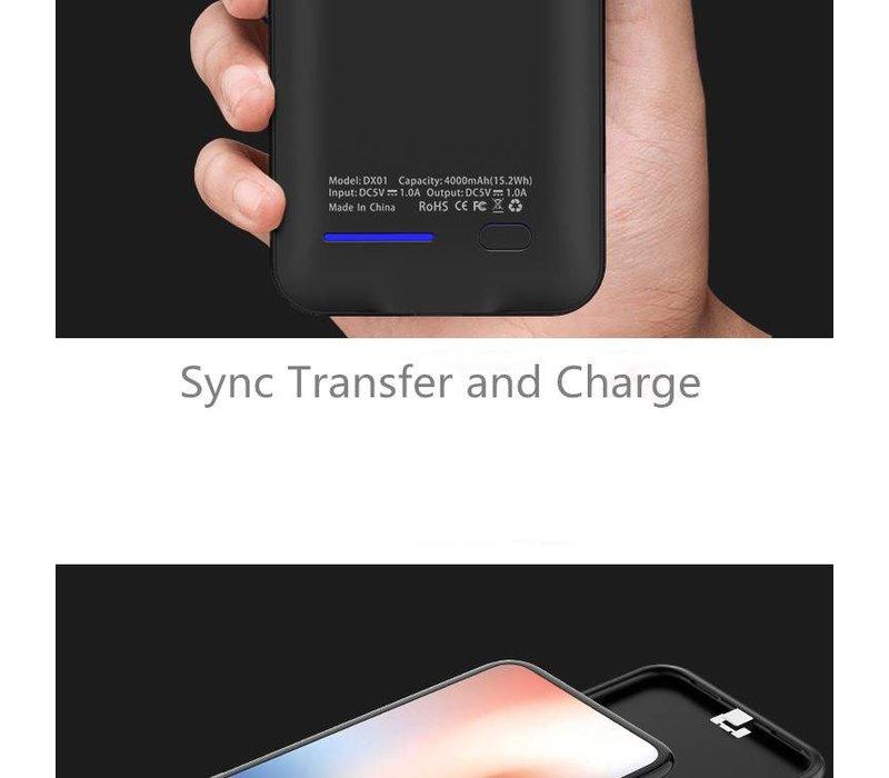 Battery Power Case voor iPhone X 4000 mAh Roze