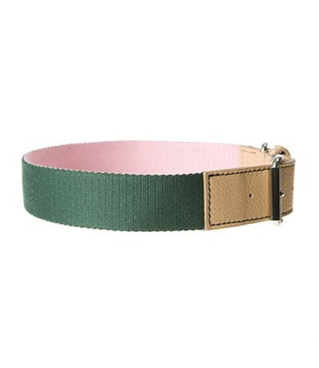 Mungo and Maud - Converse Dog Collar Rose/Forest