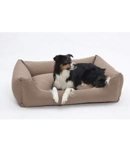 Dogs in the City - Hundebett Tweed braun