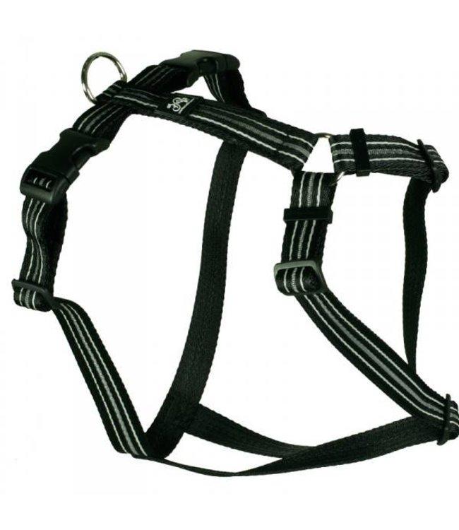 Feltmann - Hundegeschirr - Reflex schwarz