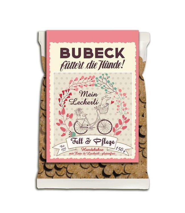 Bubeck - Fell & Pflege - die getreidefreie Belohnung mit dem besten aus der Ente gebacken 150gr