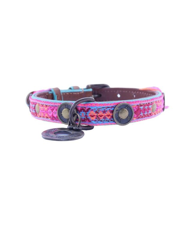 Dog with a Mission - Hippie Hundehalsband S / 2cm breit
