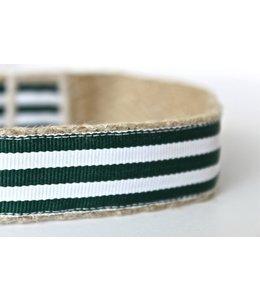 Green Bean Dog - Hundehalsband Hunter Grün Weiss
