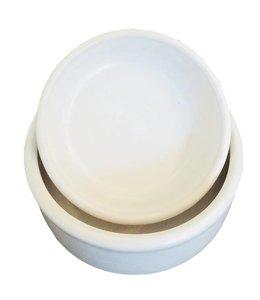 Hundenapf Keramik mit EM - weiss