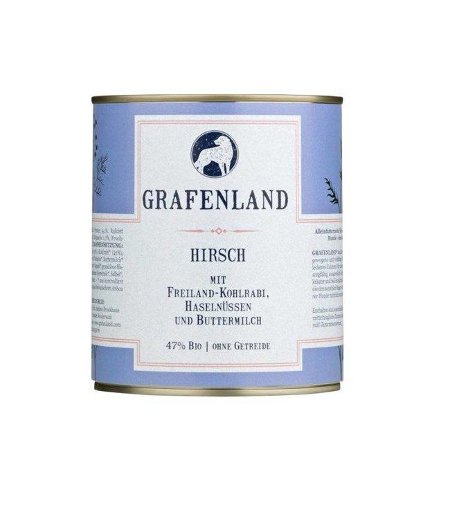 Grafenland - Hirsch mit Freiland-Kohlrabi, Haselnüssen und saurer Sahne - DE-ÖKO-006