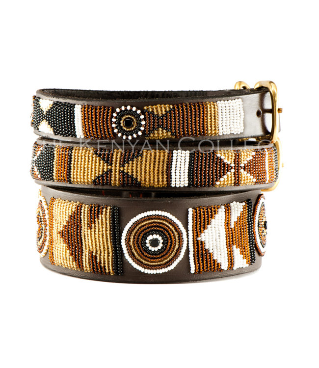 The Kenya Collection - Hundehalsband Earth - warme Erdtöne