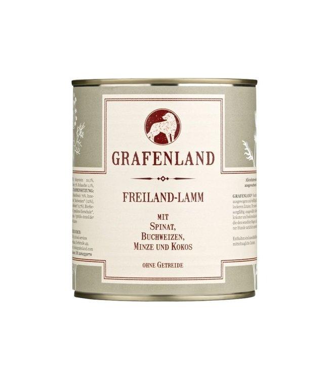 Grafenland - Freiland-Lamm mit Spinat, Buchweizen, Minze und Kokos - DE-ÖKO-006