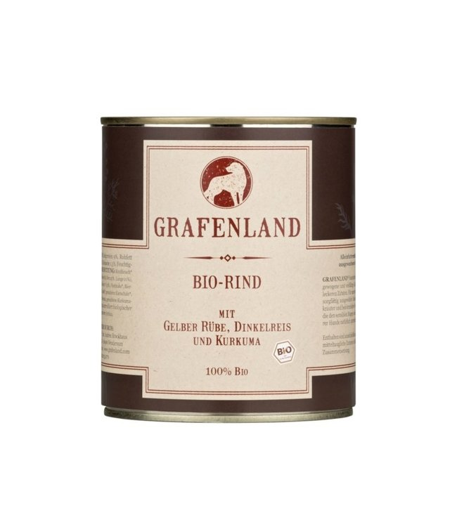 Grafenland - Bio-Rind mit Gelber Rübe, Dinkelreis und Kurkuma - DE-ÖKO-006
