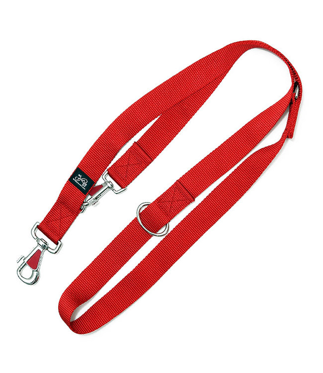 brustgeschirr - Führleine - Nylon Hundeleine Uni rot