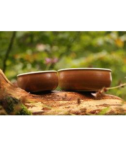 Flöckchens - Keramik Hundenapf Mahagoni