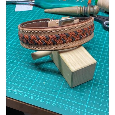 Hundehalsband Leder