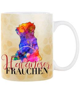 Cadouri -  Kaffeebecher Havaneser Frauchen
