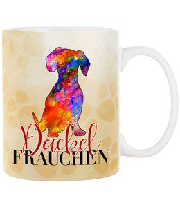 Cadouri -  Kaffeebecher Dackel Frauchen