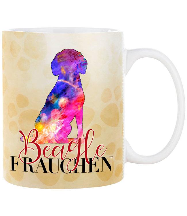 Cadouri -  Kaffeebecher Beagle Frauchen