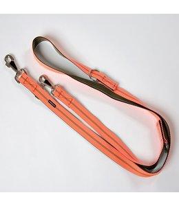 brustgeschirr - Führleine Streifen orange
