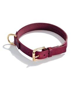 Schröders Hund - Hundehalsband Oldschool bordeaux