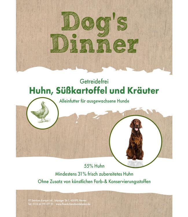 Dogs Dinner - Trockenfutter Huhn, Süßkartoffel und Kräuter