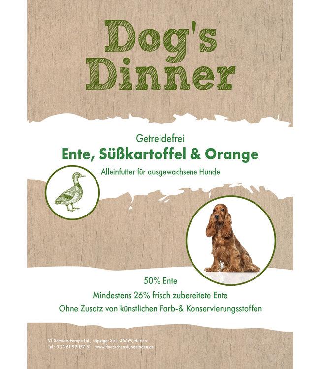Dogs Dinner - Trockenfutter Ente, Süßkartoff und Orange