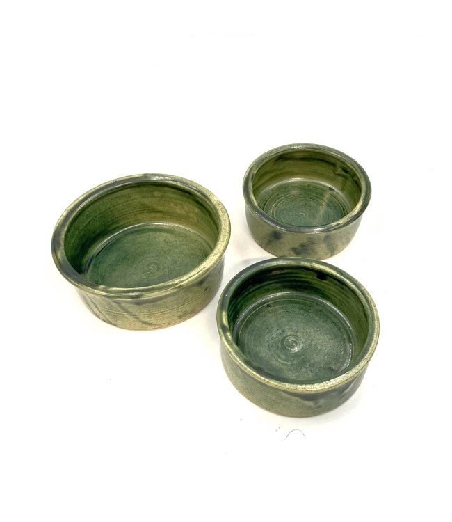 Flöckchens - Hundenapf Keramik mit EM - grün
