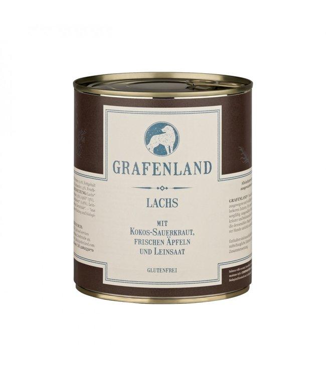 Grafenland - Lachs mit Kokos-Sauerkraut, frischen Äpfeln und Leinsaat