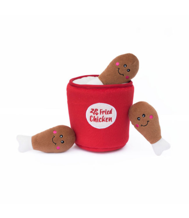 Zippy Paws -  Hundespielzeug Zippy Burrow - Bucket of Chicken