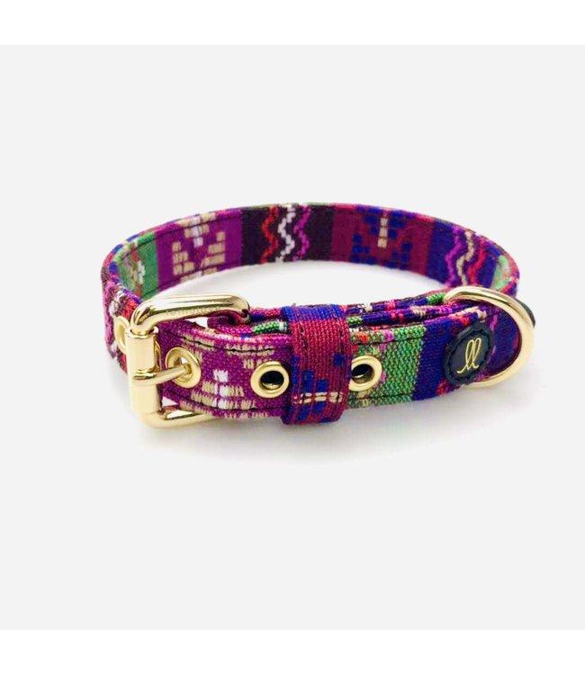 Lemolove - Hundehalsband Hippie Yay violett