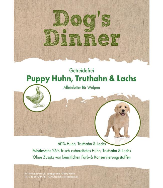 Dogs Dinner - Welpen Trockenfutter Huhn, Truthahn und Lachs
