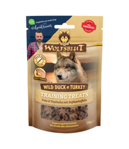 Wolfsblut - Training Treats Wild Duck & Turkey - Ente, Truthahn und Süßkartoffel