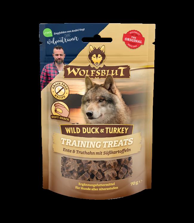 Wolfsblut - Training Treats Wild Duck & Turkey - Ente, Truthahn und Süßkartoffel 70g
