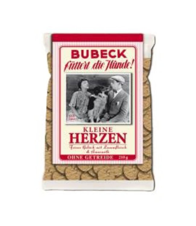 Bubeck - Kleine Herzen - die getreidefreie Belohnung mit dem besten aus dem Lamm gebacken 210 gr.