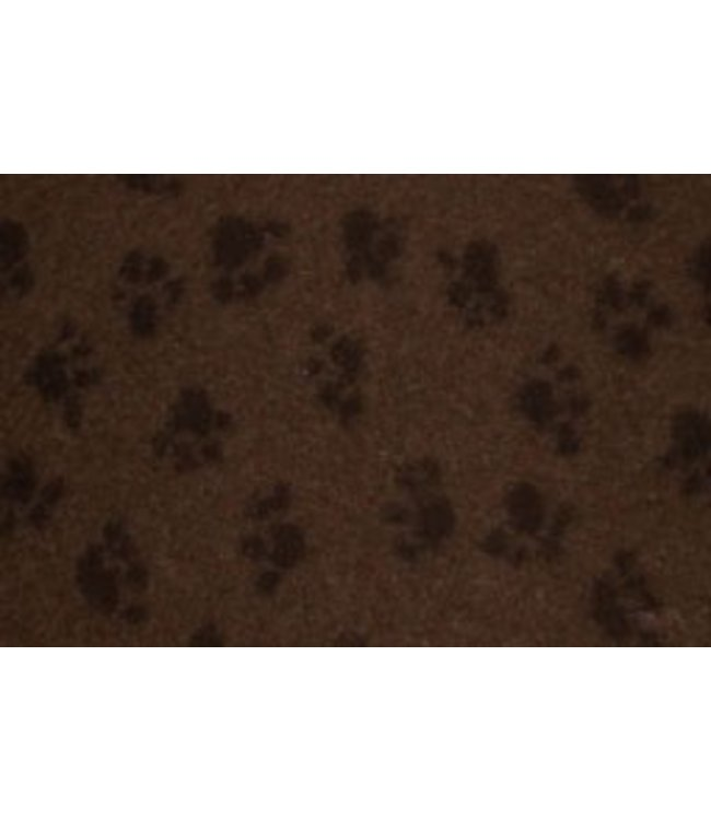 brustgeschirr - Kuscheldecke Soft 30 braun mit schwarzen Pfötchen