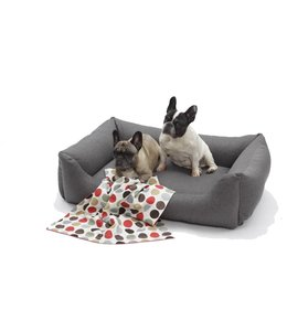 Dogs in the City - Hundebett Tweed anthrazit