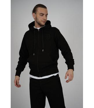 PICALDI Zip Hoodie Initial - Black