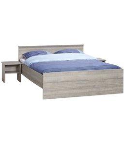 BEUK Bedframe 120x220 cm  - Donker Grijs Hout – Bavel