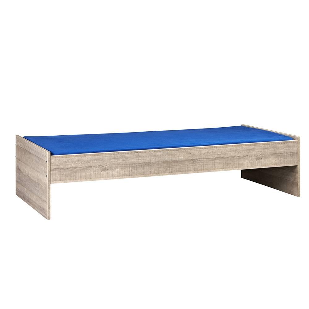 BEUK Bedframe 90x210 cm - Donker Grijs Hout – Budel