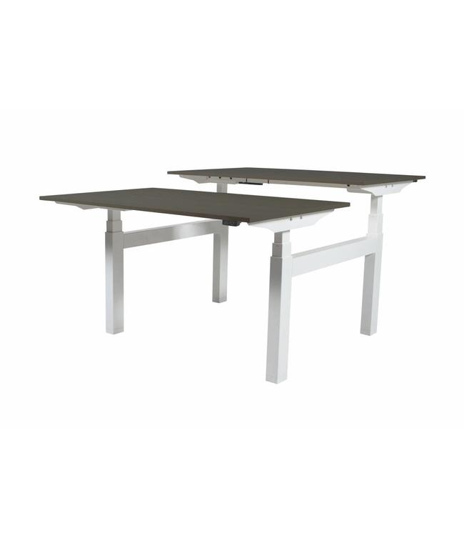 LECTRO Zit Sta Bureau (2 persoons) - Lectro Duo Plus EV ZS 160x80/80 robson 25mm - wit frame