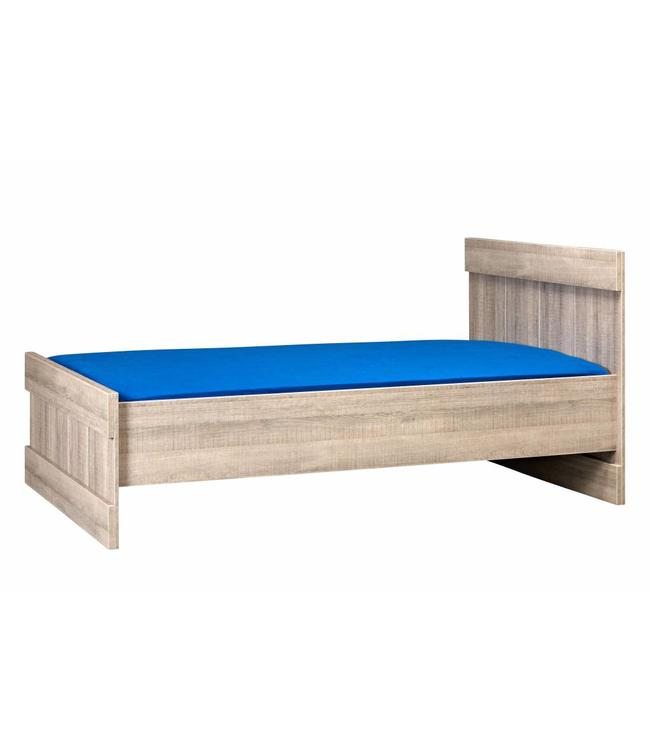 BEUK Bed 120x200 - Donker grijs hout - Storm
