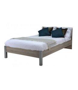 BEUK Bedframe 90x220 - Donker grijs hout - Best