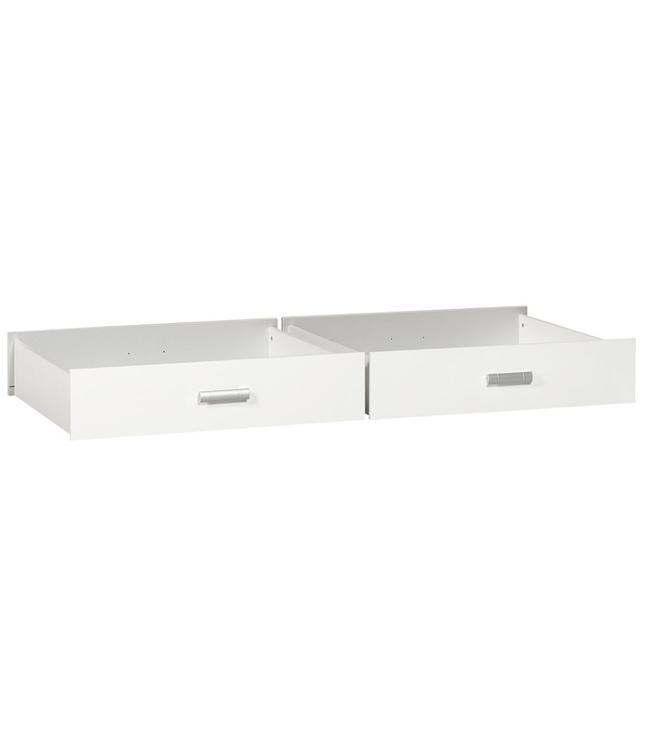 BEUK Ladenbakken Wit (98cm breed) - set van 2 - 83cm diep